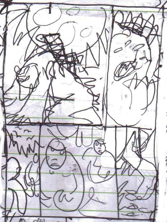 Black Shuck Seven page 2 roughs